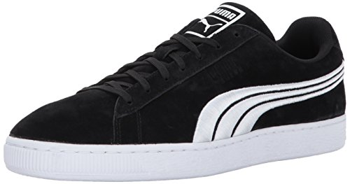 Puma Heren Classic Badge Fashion Sneaker Puma Black-puma Wit