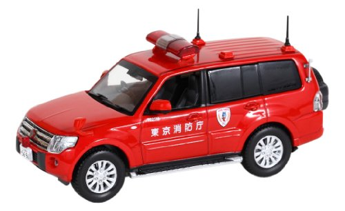 Tokyo Fire Department public relations vehicle inspection CARNEL 1/43 Mitsubishi Pajero 2010 (japan import)