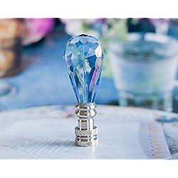 One of Gorgeous Blue Rain Drop Lamp Shade Finial, Harp Topper