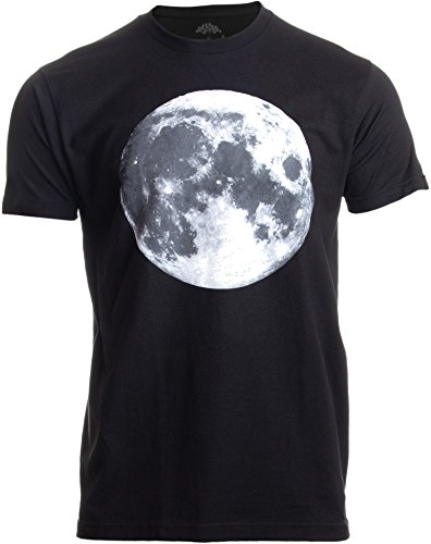 The Moon | NASA Photography Astronomy Space Nerd Full Luna for Men Women T-Shirt-(Adult,L) - T-shirt Moon