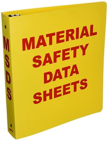 Brady BR823A Binder, Material Safety Data Sheets - Index System 15 Tab