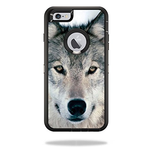 MightySkins Skin For OtterBox Defender iPhone 6 Plus/6s - Wolf | Protective, Durable, and Unique Vinyl Decal wrap cover | Easy To Apply, Remove, and Change Styles | Made in the USA
