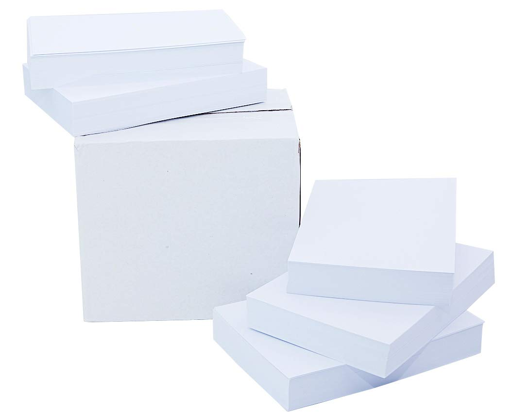 White Cardstock Paper 4 x 6 Inches (500 Sheets) 80lb Cover, 220gsm, Blank by Printerry