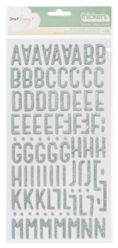 American Crafts Dear Lizzy Thickers Chipboard Glitter Spr...