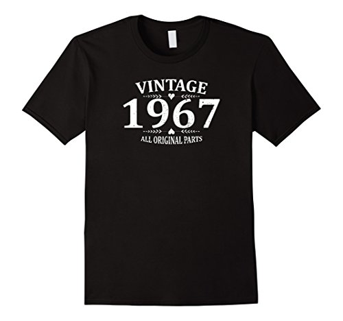 Mens Funny Vintage 1967 50th Birthday Gift T-shirt Best Emoji Tee XL Black