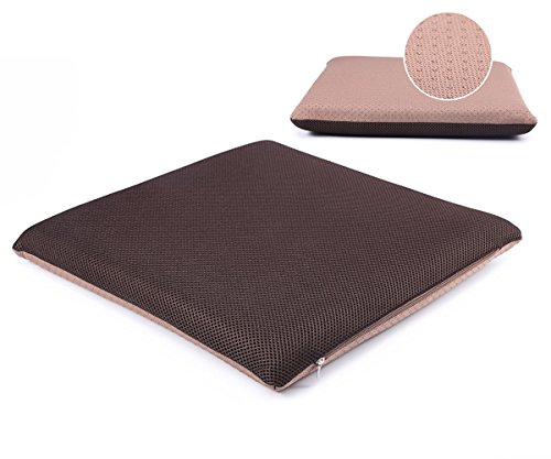 YIHANG Summer MEMORY FOAM CUSHION FOR ANY SEAT --Portable Chair Seat Pad for Home and Office, Computer, Couch, Driving, Auto Seat, Wheelchair.(Brown) (Cushion Memory Couch Seat Foam)