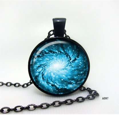 Galaxy Necklace, Space Jewelry Art Pendant Galaxy,locket,black,turquoise,blue,galaxy Necklace,galaxy Locket,blue Necklace,blue Stone,star Locket,star Necklace. Valleygirldesigns