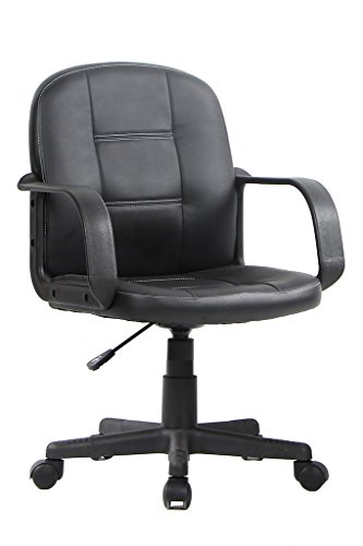VIVA OFFICE Ergonomic Mid Back Office Chair, Bonded Leather Computer Task Chair by VIVA OFFICE
