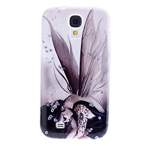 Wing caso del patrón TPU para Samsung i9500 Galaxy S4