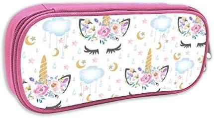Estuche de lápices Infantil,2 Luna Y Estrellas Unicornio Soñoliento Blanco_2436 - lilfaye, pingk: Amazon.es: Juguetes y juegos