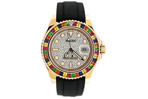 Rolex Rainbow Yacht Master EVEROSE Diamond Dial 116695SATS