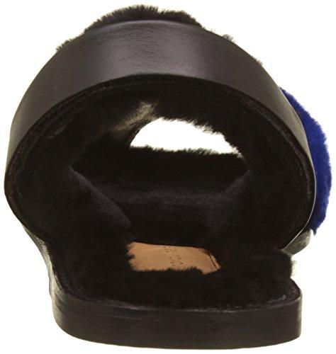 Bleu Noir Avarca Women's Minorquines Sling Sandals Back Alaska Bleu Blue Mouton qIFCpxnwT
