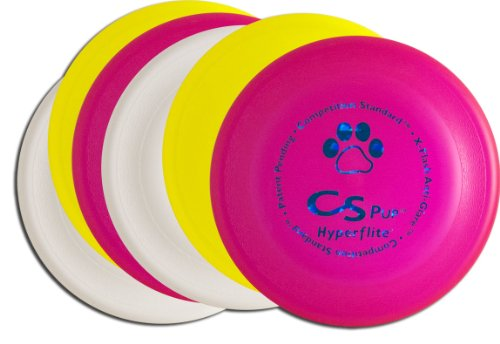 Hyperflite K-10 Pup Competition Standard Dog Disc Six Pack - Assorted ()