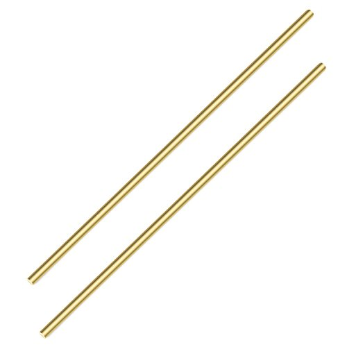 Sutemribor Brass Solid Round Rod Lathe Bar Stock, 1/4 inch in Diameter 14 inch in Length (2 PCS)