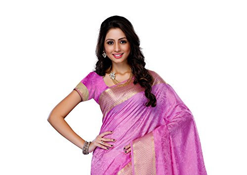 Mimosa-WomenS-Tussar-Silk-Saree-With-BlouseColorPink3196-2073-PINK