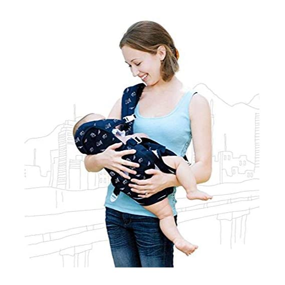 Babies Bloom Blue Front Carrier for Baby with Safety Belt and Buckle Straps (6 in 1) (2-30 Mnths Old Baby/Kid)