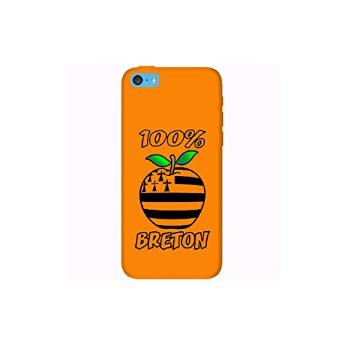 Coque Apple Iphone 5c - 100% Breton orange