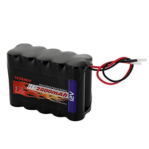 Tenergy NiMH Battery Pack 12V 2000mAh High Capacity Rechargeable RC Battery w/Bare Leads for RC Airplanes, RC Car, DIY and More