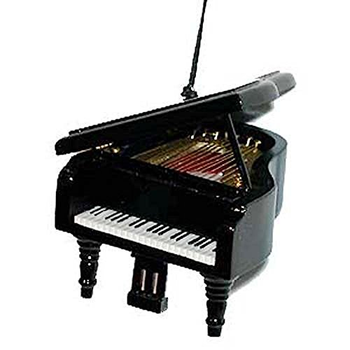 Black Grand Piano Musical Instrument Christmas Ornament