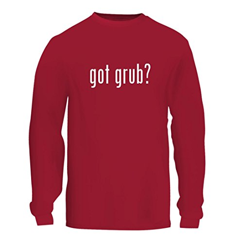 Got Grub    A Nice Mens Long Sleeve T Shirt Shirt  Red  Large