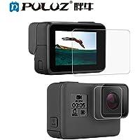 Ocamo PULUZ Tempered Glass Protector Cover Case for Gopro Hero 5 6 7 Camera Lens Cap LCD Screen Protective Film