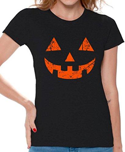 Awkward Styles Halloween Shirt Jack-O'-Lantern Halloween Costume Shirt for Women Jack-o-Lantern M