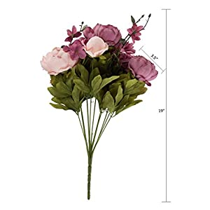 EZFLOWERY 1 Pack Artificial Peony Silk Flowers Arrangement Bouquet for Wedding Centerpiece Room Party Home Decoration, Elegant Vintage, Perfect for Spring, Summer and Occasions (1, Blush) 4