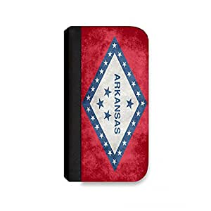 Insomniac Arts - State Flag of Arkansas - Wallet Case for iPhone 4, Cell Phone Case