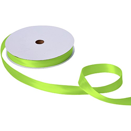 Jillson & Roberts Double-Faced Satin Ribbon, 1'' Wide x 100 Yards, Lime by Jillson Roberts
