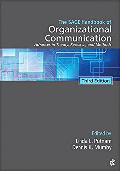 The Sage Handbook Of Organizational Communication: Advances In Theory, Research, And Methods Descargar Epub Ahora