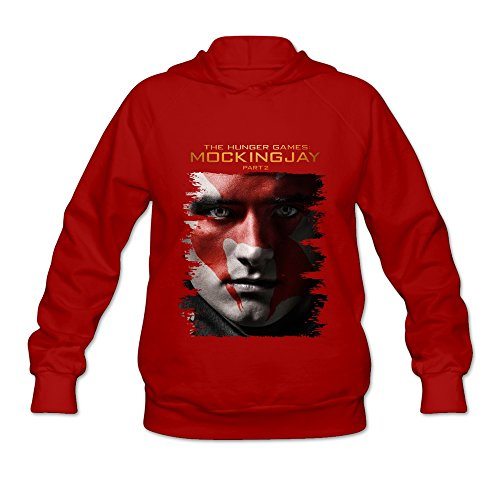Women's The Hunger Games Mockingjay Part 1 Hoodies Size L Red for $<!---->