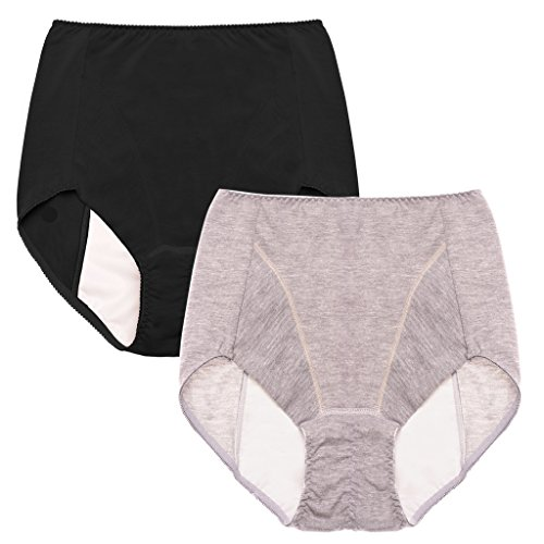 Intimate Portal Women Essentials Leak Proof Incontinence Brief Period Panties Black Gray Small