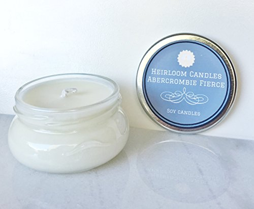 Abercrombie Fierce Scented Soy Candle – Masculine Candle – Glass Tureen Jar – Handmade, 3.3oz
