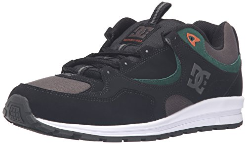 DC Men's Kalis Lite Skate Shoe - Black/Green/Grey - 14 D(...