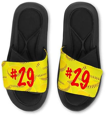 Violet Victoria /& Fan Star Custom Personalized Basketball Slide Sandals Add Your Name or Team!