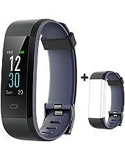 YAMAY Fitness Armband mit Pulsmesser,Wasserdicht IP68 Fitness Tracker 0,96 Zoll Farbbildschirm Aktivitätstracker Pulsuhren Smartwatch Schrittzaehler Uhr Smart Watch Fitness Uhr für Damen Herren
