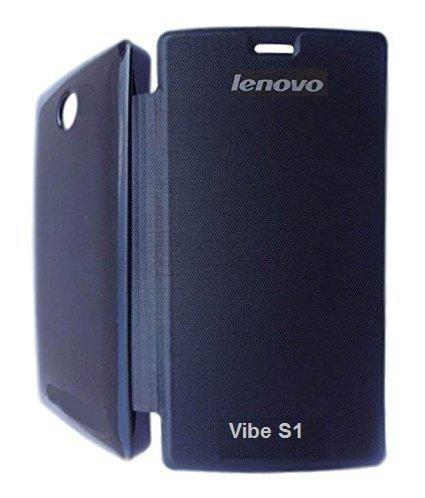 huge selection of 38276 4c5f5 Flip Cover for Lenovo Vibe S1 Black