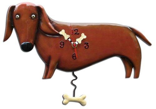 Allen Designs Oscar (Dachshund) Dog Pendulum (Dachshund Wall)