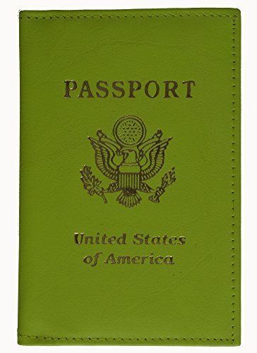 Genuine Green Leather Passport Travel Holder Wallet New