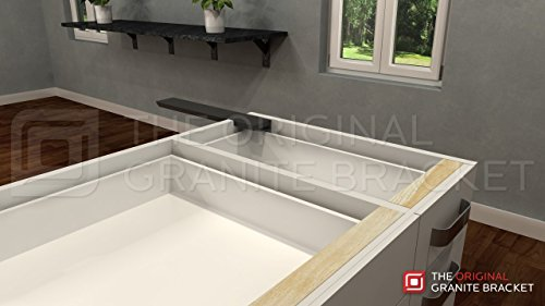 Countertop Support Bracket Side Wall 16'' Left Angle by Wholesale Hidden Granite Brackets (Image #4)