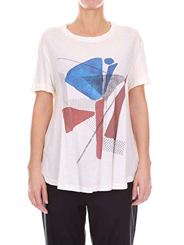 Alysi Mujer Algodon Blanco Ca50584rn67442panna T shirt Zfq7ORw