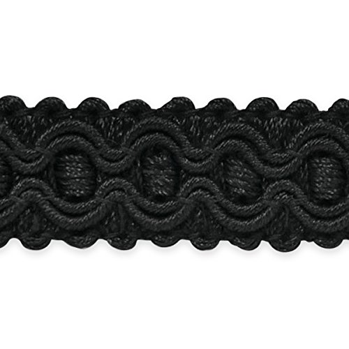 Expo International Gabrielle Decorative Braid Trim, 20-Yard, Black by Expo International Inc.