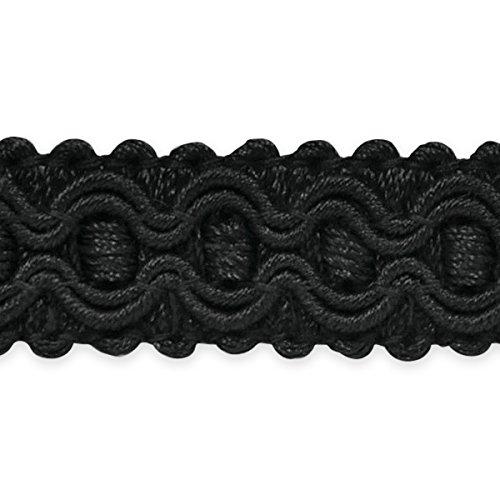 Expo International Gabrielle Decorative Braid Trim, 20-Yard, Black