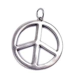 Símbolo de la Paz Minott Colgante en plata de diámetro 34 mm 14747