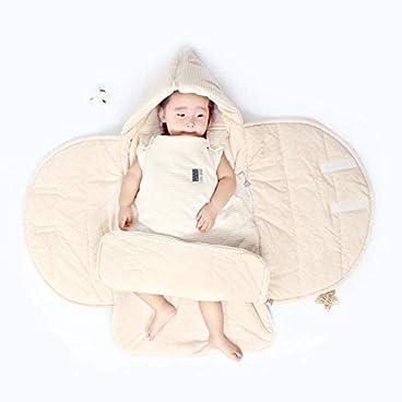 Eastery Baby Schlafsack Schlafsack Baby Pucksack Wickeldecke Wickeldecke Neugeborene Baby Junge Einfacher Stil Mädchen Schlafsack Schlafsack Beige 6 12 Monate (Color : Beige, Size : 0-6 M)