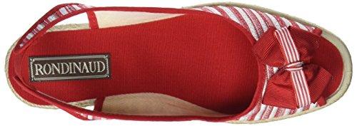 Rojo Rouge Abierta Thin 20 para con Punta Rondinaud Sandalias Mujer wq0agxO8R