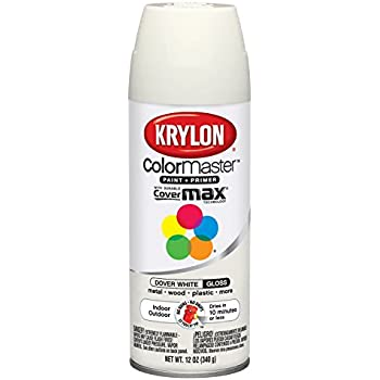 Krylon Fusion Spray Paint For Plastic Dover White Satin Art Paints