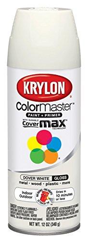 Metals Dover - Krylon K05355507 ColorMaster Paint + Primer, Gloss, Dover White, 12 oz.