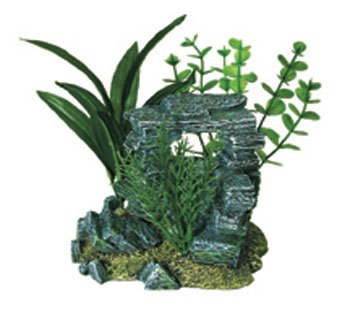 Resin Ornament Rock Arch with Plants Small by TDPS