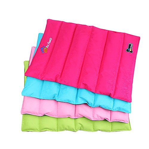 MNBS Pet Dog Foldable Solid Color Waterproof PVC Cool Summer Bed Mat Large